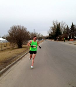 At the turn around - St. Pat's 5k