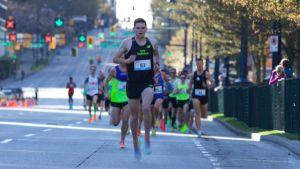 At the 1K mark - Sun Run