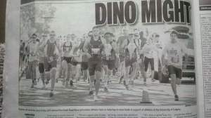 Dino Dash in the Calgary Sun